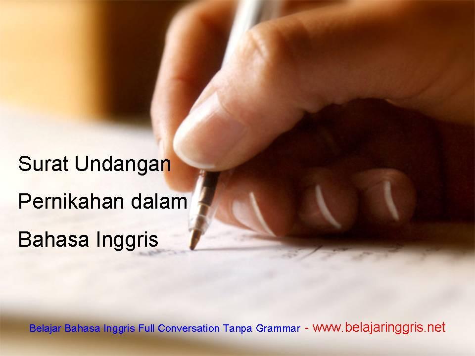 Teks Surat Undangan Pernikahan dalam Bahasa Inggris