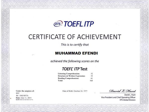 sertifikat toefl